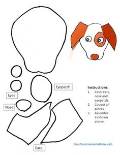 11 Best Printable Dog Crafts For Kids Images Dog Crafts Dog