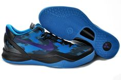 newest 8253e 7be34 Authentic Nike Zoom Kobe VIII Black Blue Purple Basketball Shoes Style For  Wholesale