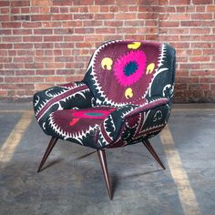 Vera Chair Suzani Dark Gray, $1,180, now featured on Fab.