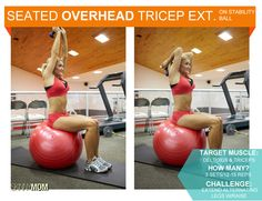 Tighten Up Tuesday: Overhead Tricep Extension on Stability Ball | Skinny Mom | Tips for Moms | Fitness | Food | Fashion | Family