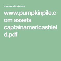 www.pumpkinpile.com assets captainamericashield.pdf