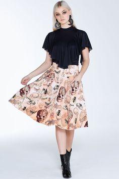 Natural History Yoke Midi Skirt – LIMITED ($110AUD) by BlackMilk Clothing