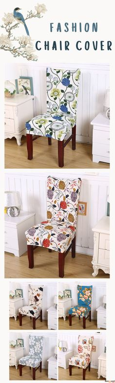 US$5.99+ Free Shipping. Removable Fashion Dining Chair Cover. 9 patterns available. Widely used for home, kitchen, hotel, office, wedding,paries,celebrations or other special event. Shop at banggood.