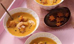 Festliche Süßkartoffelsuppe Rezept: Cremige Suppe aus Süßkartoffeln mit feiner Zitrusnote - Eins von 7.000 leckeren, gelingsicheren Rezepten von Dr. Oetker!
