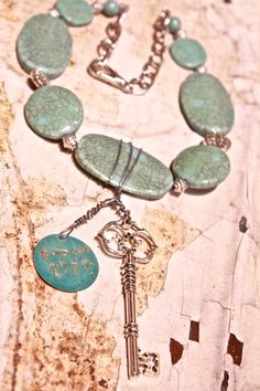 Gypsy Lady Stamped Statement Necklace/ Chunky by rustluster