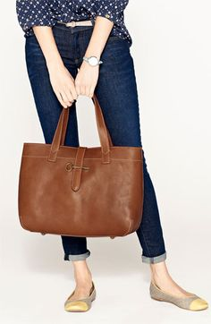 Great brown soft leather bag from Fossil!  33% off at Nordstrom right now!  (06/27/13)