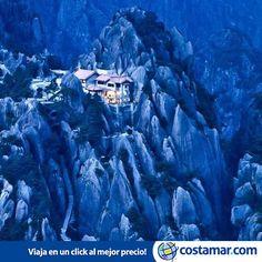 Misterioso lugar: Jade Screen Hotel, Huangshan, China --> www.costamar.com