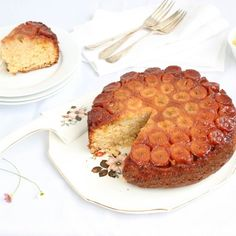 Classic caramelized banana cake from Brazil that is moist and super fluffy.