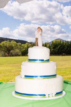 {ケリーグリーンとコバルトブルー}素朴なシックなランチの結婚式|写真家:ジュリアス写真