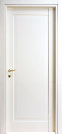 ~ Living a Beautiful Life ~ Porte #interne modello 1B in #legno listellare. Laccato Ral 9010 (Bianco). Linea Bugnata - Catalogo Aria #doors / Insert frosted glass for DVD storage closet.
