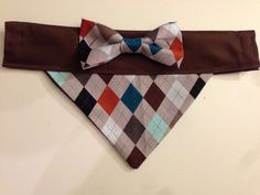 Brand new in Spotted Dog Shop today is the perfect way to transform your pup into a dapper dan! Weve got a new argyle print with masculine colors for your little guys! Also featuring a teal or argyle bow, our signature look! The band can also be customized to either brown or argyle. Email for more photos or questions!    Add a monogram for only $5!    All sizing dimensions provided on last photo of listing.    This inventory item fits with a 3/4-1.5 collar for most small to large dogs.  ...