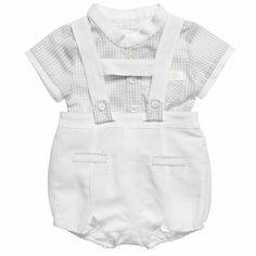 Mayoral Baby Boys White Shirt and Shorts Set at Childrensalon.com