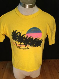 Vintage 1980's Tourist T-Shirt Surf Beach 50/50 size LARGE Florida by 413productions on Etsy