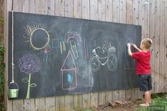 Chalk wall outside by Andie-O