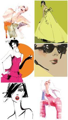 Harpers & Queen, L'Officiel, Tatler and Vogue illustrations