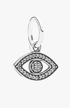 PANDORA 'Symbol of Insight' Evil Eye Dangle Charm available at #Nordstrom