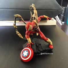 Spiderman Iron Armor fan art for disney infinity - visit to grab an unforgettable cool Super Hero T-Shirt! Graffiti Characters, Marvel Characters, Marvel Heroes, Spiderman Marvel, Disney Infinity Characters, Civil War Movies, To Infinity And Beyond, Game Pieces, Cartoon Pics