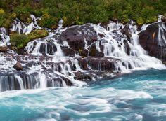 Barnafoss Waterfall, Icelanda