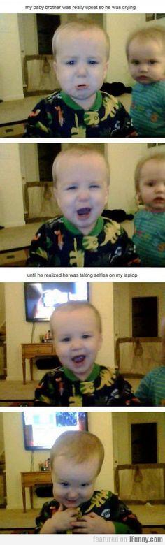 baby selfies. OMG the last one!