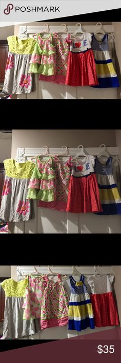 Lot of 5 girls size 4t brand name Lot of 5 girls size 4t brand name hardly worn all in great shape (besides a few wrinkles) ... adorable summer will be here soon enough Dresses