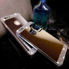 Luxury Bling Mirror Soft Gel Case For iPhone 6/6S/Plus