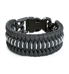 DZI Trilobite Chainmail Paracord Survival Bracelet with Plastic Buckle