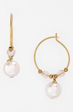 Pretty pearl hoop earrings.