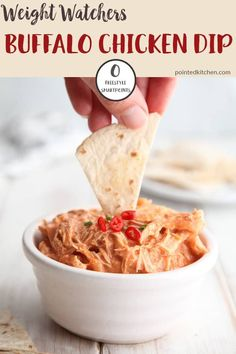 This buffalo chicken dip is zero Smart Points per serving on Weight Watchers Freestyle plan. Made with 4 ingredients, it couldn't be easier to make. A perfect WW snack recipe. # Food and Drink healthy buffalo chicken Buffalo Chicken Dip Weight Watchers Snacks, Poulet Weight Watchers, Plats Weight Watchers, Weight Watcher Dinners, Weight Watchers Smart Points, Weight Watchers Chicken, Weight Watchers Recipes With Smartpoints, Weight Loss, Recipes