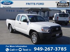 2015 *Toyota*  *Tacoma* *4DR* *ACCESS* *CAB*  14k miles Call for Price 14363 miles 949-267-3785 Transmission: Automatic  #Toyota #Tacoma #used #cars #FrittsFord #Riverside #CA #tapcars