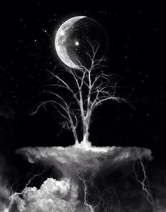 tree moon tattoo | ... trees moon hands skull dark art tattoo ideas Image Set Tattoo