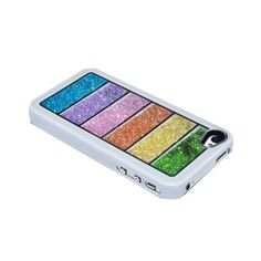Newsh Rainbow Swarovski Crystal Cell Phone Cover Case for Iphone 4 4s