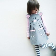 TODDLER GIRLS DRESS -LITTLE MOUSE by Wild Things - Funky Little Dresses at Folksy.com