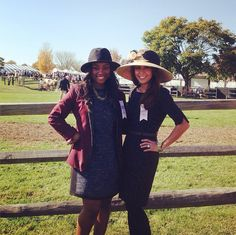Our Fashion and Beauty Writer and Marketing Manager were invited to the @VAGoldCup today to be judges in the hat competition | Don't they look great? | #IGC2014 #VAGoldCup