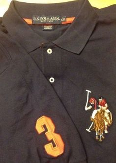 $44. US Polo Assn Big Pony number 3 Short Sleeve Shirt.Red Size Small NWT!!