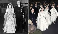 On July Buckingham Palace announced the engagement of Princess Elizabeth, and Lt Philip Mountbatten, Four months later, they were wed in London. Young Queen Elizabeth, Elizabeth Philip, Queen Elizabeth Wedding, Princess Elizabeth, Prince Philip Mother, Royal Family Portrait, Queens Wedding, Royal Weddings, Vintage Weddings
