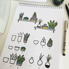 You know how I love plant doodles so much I can't stop myself not to draw one on my journal. But, hey, plant doodles can really adapt to… doodle Bullet Journal Aesthetic, Bullet Journal Ideas Pages, Bullet Journal Inspiration, Pens For Bullet Journaling, Bujo Inspiration, Doodle Inspiration, Daily Journal, Bullet Journals, Doodle Books