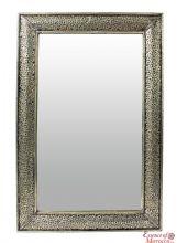Moroccan Mirror Silver Maillechort Engraved 75 cm x 50 cm. Moroccan Mirror, Frame Crafts, Hand Engraving, Morocco, Craftsman, Mirrors, Tea Pots, Sink, Rugs