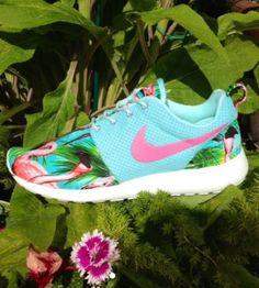 4a40d776ac8 Nike Roshe Run Custom Pink Flamingo Style ( pink swoosh )