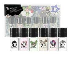 tokidoki MINI Rollerball Collection Eau de Toilette Roll-On Fragrance Perfume for Women 6-piece Set: 0.07 oz / 2 ml x 6 = 0.42 oz total $29.99