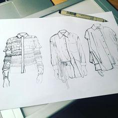 19 ideas fashion illustration sketches shirt for 2019 Illustration Mode, Fashion Illustration Sketches, Fashion Sketches, Fashion Design Illustrations, Drawing Sketches, Fashion Design Sketchbook, Fashion Design Drawings, Fashion Figures, Fashion Portfolio