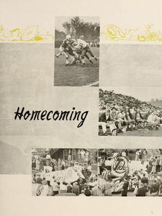 Athena Yearbook, 1957. The Ohio University 1956 Homecoming. Football game and parade pictured. :: Ohio University Archives