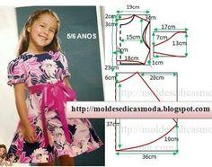 moldes de vestidos para niña de 8 años - Buscar con Google