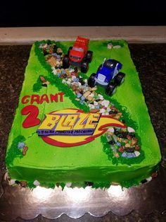 Blaze and the monster machine cake