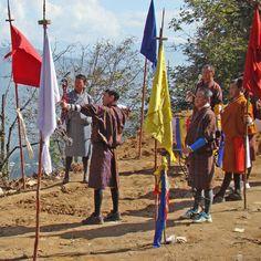 Bogenschießen in Bhutan