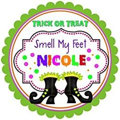 """40 Labels 2"""" Round Personalized Halloween Witch Boots, Custom Labels, Party Favors - CHOICE OF SIZE Halloween Labels, Halloween Stickers, Halloween Fun, Halloween Pumpkins, Witch Boots, Country Sweatshirts, Personalized Stickers, Statement Tees, Custom Labels"""