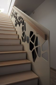 Park View House by Razvan Barsan + Partners 06 - MyHouseIdea Staircase Railings, Door Design, Staircase Design, Stairway Design, Door Gate Design, Staircase Railing Design, Ceiling Design, Stairs Design Interior, Handrail Design