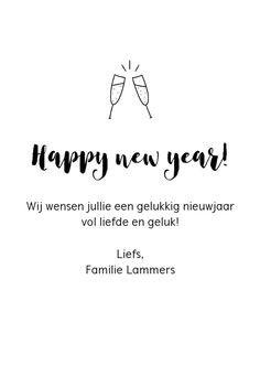 Nieuwjaarskaart- De liefste mensen   Kaartje2go Products, Gadget