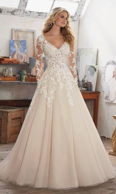 Style 8110, Maira, Mori Lee by Madeline Gardner #wedding #dress