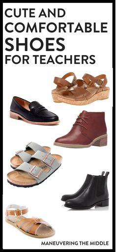 Stylish and Comfortable Shoes for Teachers Finding comfortable shoes for teachers can be a huge dilemma! 5 teacher approved shoes that are not only comfortable, but stylish! Comfortable Dress Shoes, Comfy Shoes, Comfortable Shoes For Teachers, Comfortable Teacher Outfits, Best Shoes For Teachers, Black Eyed Peas, Teacher Dresses, Teacher Clothes, Winter Teacher Outfits