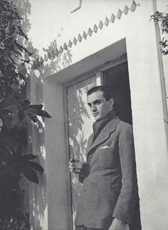 Luchino Visconti (comte Luchino Visconti di Modrone), photo by Horst P Horst, 1935  via fantomas-en-cavale
